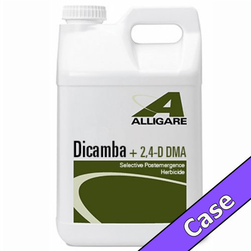 Dicamba + 2,4-D DMA | 5 Gallons (2 x 2.5 Gallons) Case | Compare to Weedmaster® / Outlaw® / Brash®